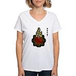 Sacred Heart Women's V-Neck T-Shirt