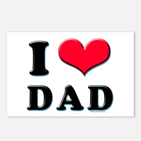 I Love Dad Postcards (Package of 8)