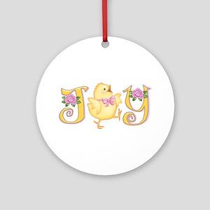 Joy: Chick Ornament (Round)