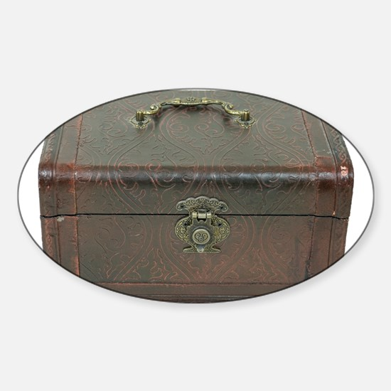 Fancy leather box Sticker (Oval)