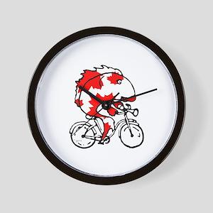 Fish Bicycle Wall Clock