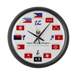 Philippine Flags Large Wall Clock