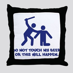 Beer Beating Throw Pillow
