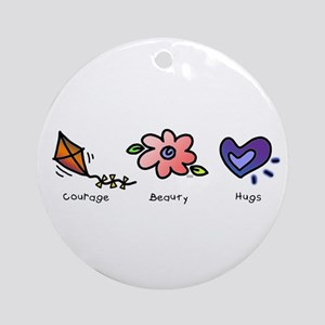 Courage, Beauty, Hugs Keepsake (Round)