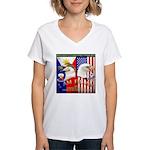 I AM FIL-AM Women's V-Neck T-Shirt