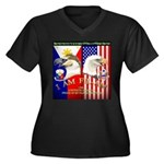 I AM FIL-AM Women's Plus Size V-Neck Dark T-Shirt