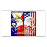 I AM FIL-AM Sticker (Rectangle 50 pk)