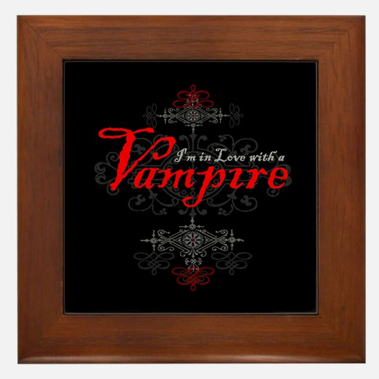 I'm in Love with a Vampire Framed Tile