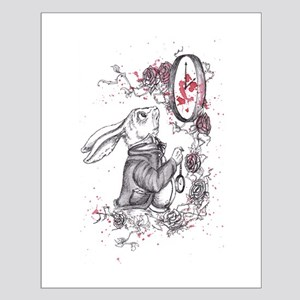 White Rabbit Small Poster