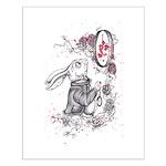 White Rabbit Small Poster