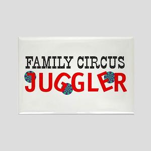 Family circus juggler Rectangle Magnet