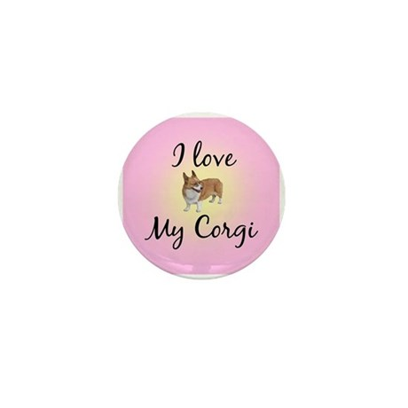 I Love My Corgi Mini Button