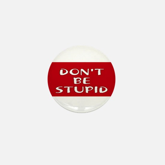 Don't Be Stupid Campaign Button