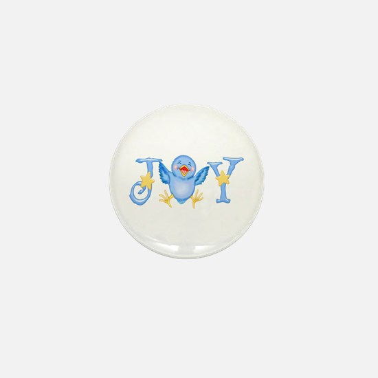 Joy: Bluebird Mini Button