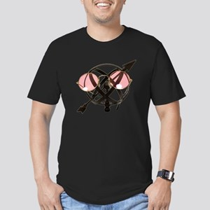 Rose colored direction Men's Fitted T-Shirt (dark)