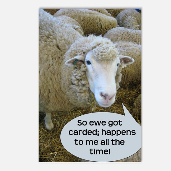 Carded, eh? Postcards (Package of 8)