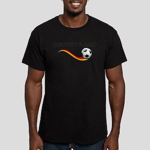 Soccer DEUTSCHLAND Men's Fitted T-Shirt (dark)