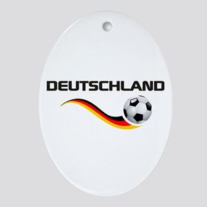Soccer DEUTSCHLAND Ornament (Oval)