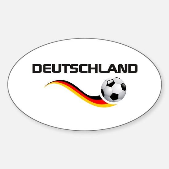Soccer DEUTSCHLAND Sticker (Oval)