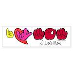 I-L-Y Mom Sticker (Bumper 10 pk)