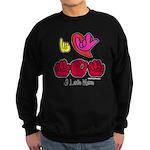 I-L-Y Mom Sweatshirt (dark)