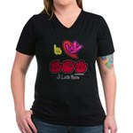 I-L-Y Mom Women's V-Neck Dark T-Shirt