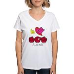 I-L-Y Mom Women's V-Neck T-Shirt