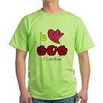 I-L-Y Mom Green T-Shirt