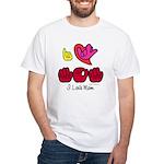 I-L-Y Mom White T-Shirt