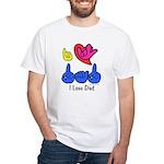 I-L-Y Dad White T-Shirt