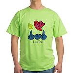 I-L-Y Dad Green T-Shirt