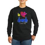 I-L-Y Dad Long Sleeve Dark T-Shirt