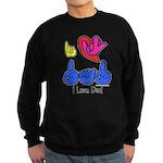 I-L-Y Dad Sweatshirt (dark)