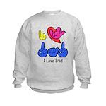 I-L-Y Dad Kids Sweatshirt