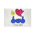 I-L-Y Dad Rectangle Magnet (100 pack)