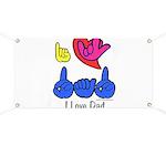 I-L-Y Dad Banner