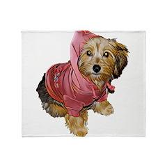 cuteness in da hood Throw Blanket