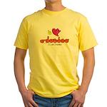 I-L-Y Grandma Yellow T-Shirt