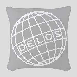Westworld Delos Globe Woven Throw Pillow