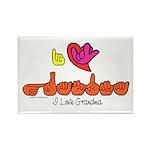 I-L-Y Grandma Rectangle Magnet (100 pack)