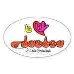 I-L-Y Grandma Sticker (Oval 10 pk)