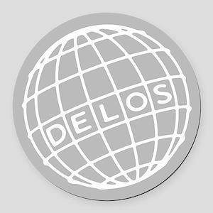 Westworld Delos Globe Round Car Magnet
