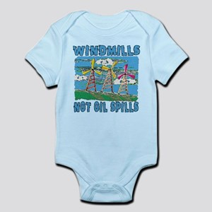 Windmills Not Oil Spills Infant Bodysuit