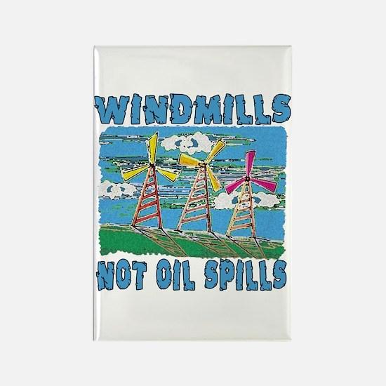 Windmills Not Oil Spills Rectangle Magnet