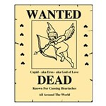 Wanted Cupid Small Poster