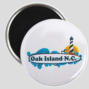 Oak Island NC - Lighthouse Design Magnet