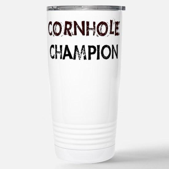 Cornhole Champion Stainless Steel Travel Mug