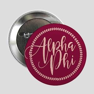 """Alpha Phi Script 2.25"""" Button"""