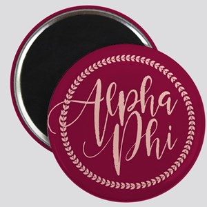 Alpha Phi Script Magnet