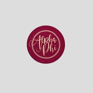 Alpha Phi Script Mini Button